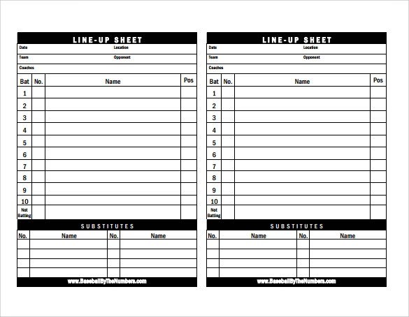 Sample Baseball Roster Template - 10+ Download Documents in PDF