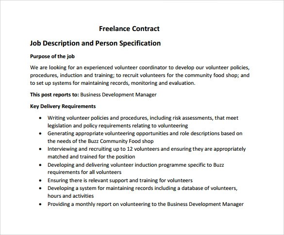 Freelance Contract Agreement