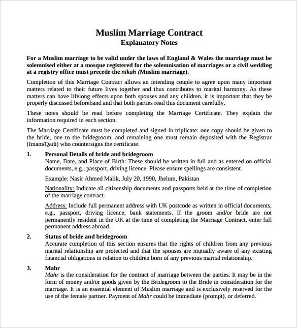 Marriage Contract Funny | Create Professional Resumes Online For