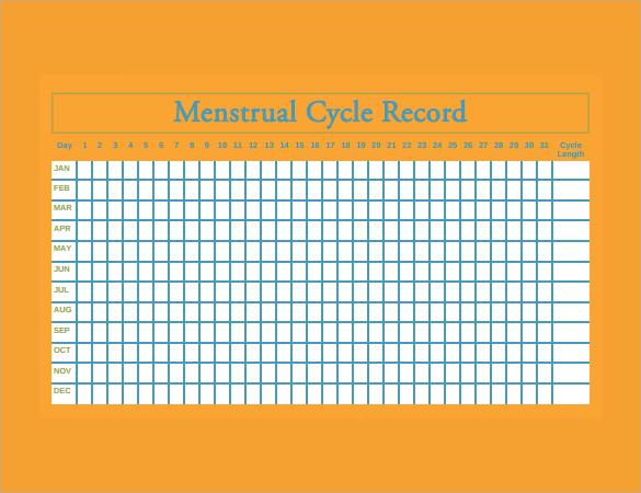 Menstrual Calendar - 11+ Free Samples , Examples  Format