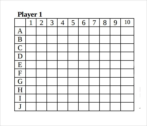 Sample Battleship Game - 9 + Documents in PDF