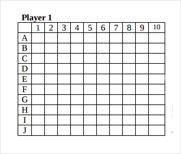 9+ Sample Battleship Games \u2013 PDF, DOC Sample Templates - sample battleship game