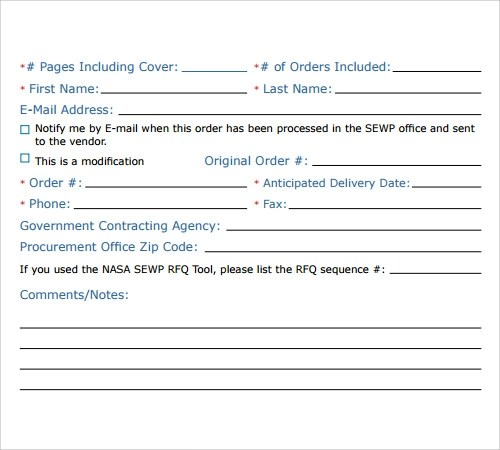 Sample Fax Cover Sheet Template - 27+ Documents in PDF, Word - fax examples