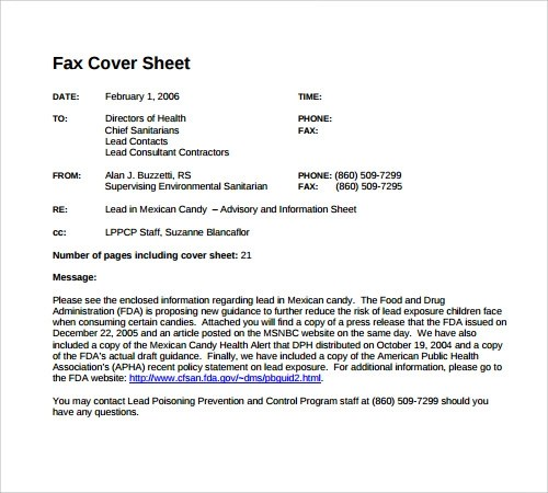 28+ Fax Cover Sheet Templates Sample Templates - sample urgent fax cover sheet
