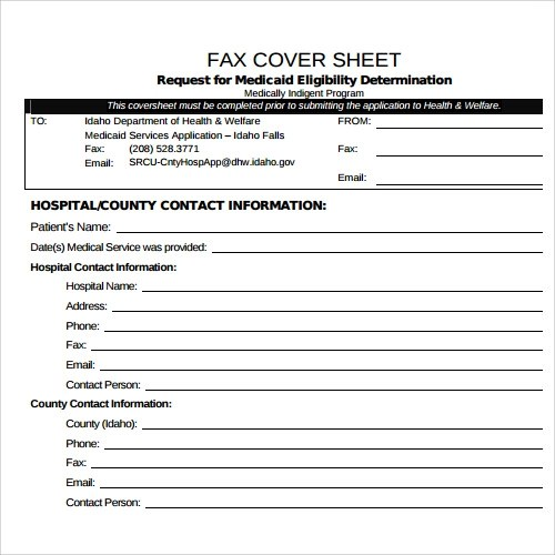 Sample Fax Cover Sheet Template - 27+ Documents in PDF, Word - sample cute fax cover sheet