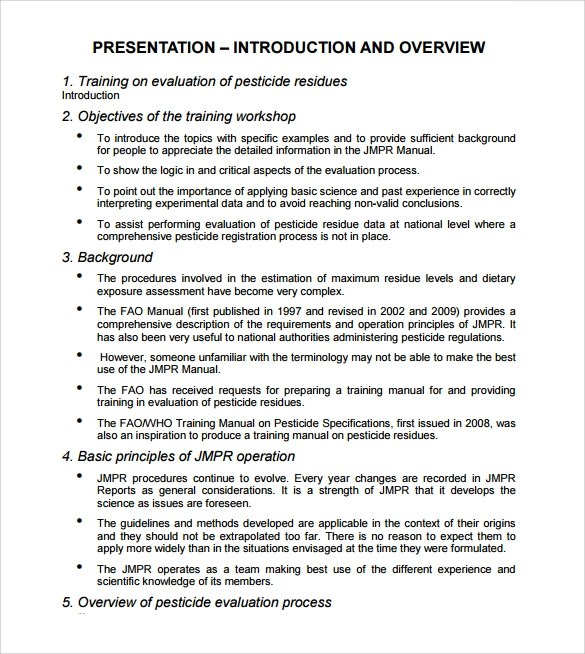 ... Sample Training Manual Tunnelvisie   Operation Manual Template ...