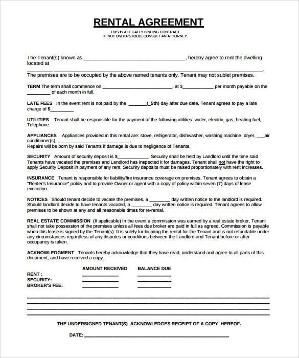 Sample Lease Template - parking agreement template