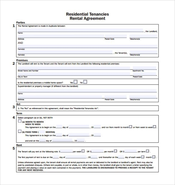 11 Rental Agreement Templates to Download for Free Sample Templates