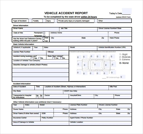 12+ Sample Accident Report Templates \u2013 PDF, Word, Pages Sample - Accident Report Template