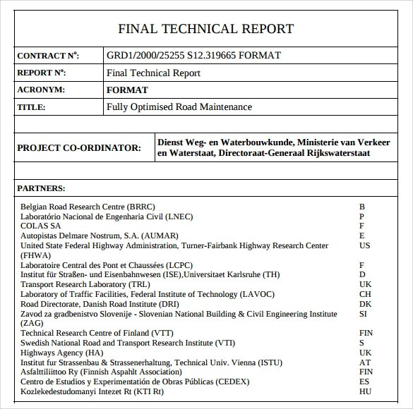 8+ Technical Report Samples, Examples, Templates Sample Templates