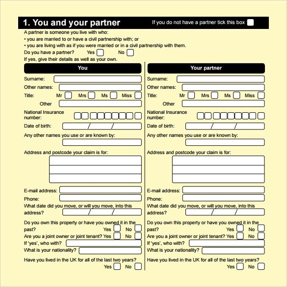 15+ Housing Benefit Forms Sample Templates