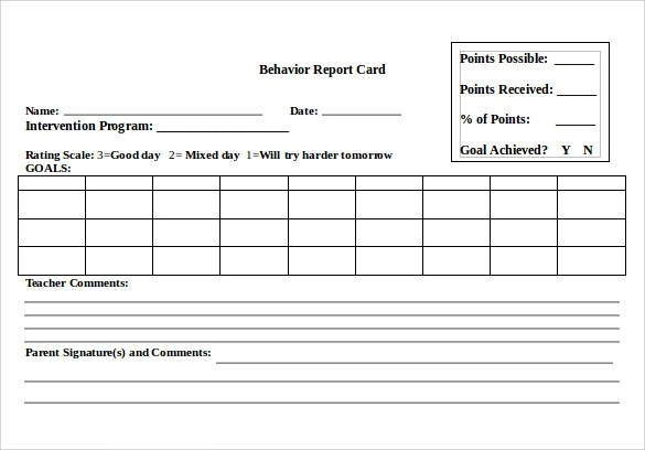 12 Progress Report Card Templates to Free Download Sample Templates