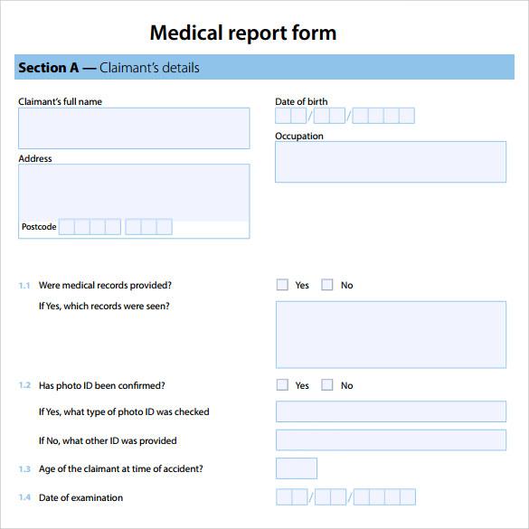 20+ Medical Report Templates \u2013 PDF, DOC Sample Templates - Patient File Template