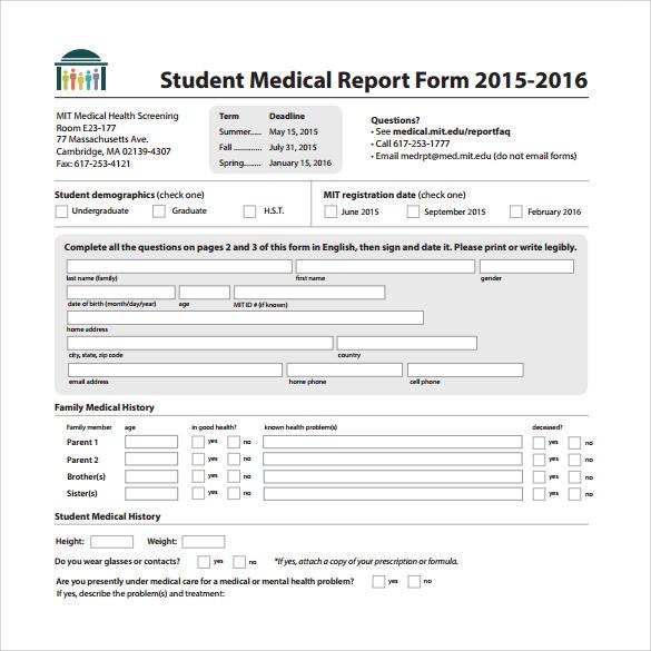 20+ Medical Report Templates \u2013 PDF, DOC Sample Templates - medical report template