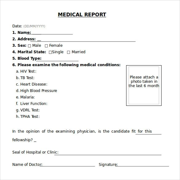 20 Medical Report Templates to Free Download Sample Templates - Medical Templates For Word