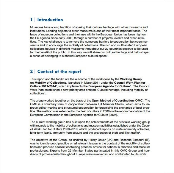How To Write A Business Plan The Us Small Business Executive Report Template 9 Download Free Documents In Pdf