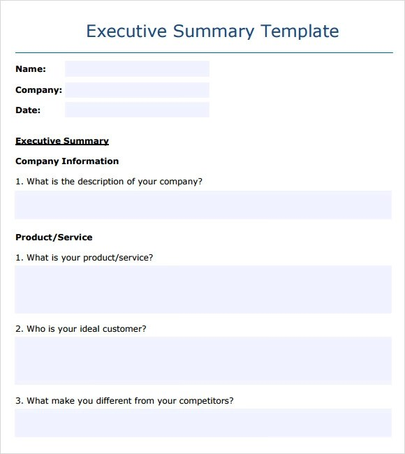 Report Executive Summary Template - Resume Ideas - namanasa.com