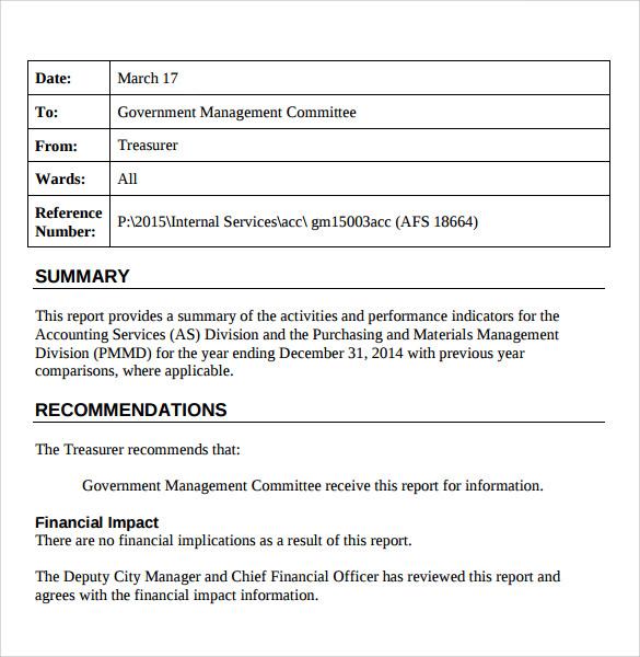 13+ Sample Treasurer Reports Sample Templates - basic report template