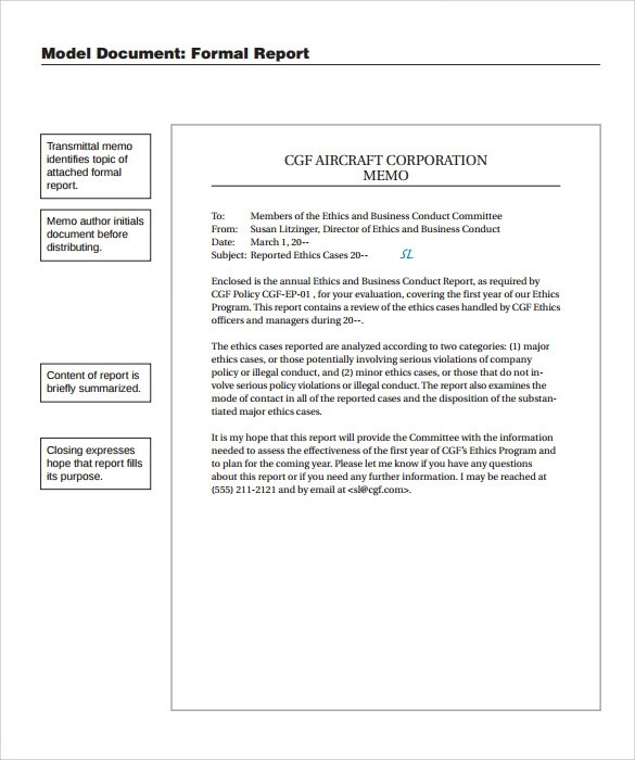... Sample Formal Report   24+ Documents In PDF   Formal Report Template  Word ...  Formal Report Template Word