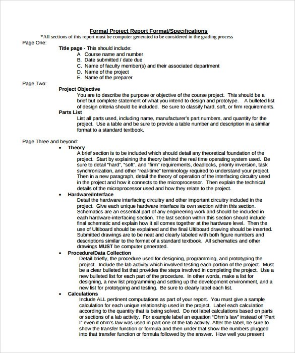 Formal Report Template Formal Proposal Formal Proposal Template