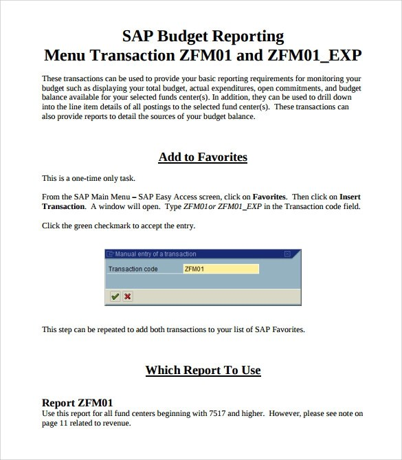 Sample Budget Report - 8+ Documents In PDF, Word