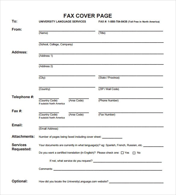 Resume Fax Cover Sheet Sample – Resume Fax Cover Sheet