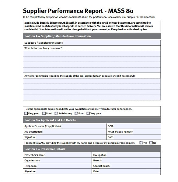 Sample Performance Report - 13+ Documents in PDF, Word
