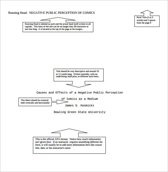 cover sheet format apa