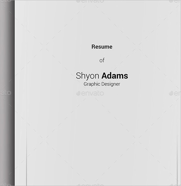 14+ Resume Cover Pages Sample Templates - Resume Coversheet