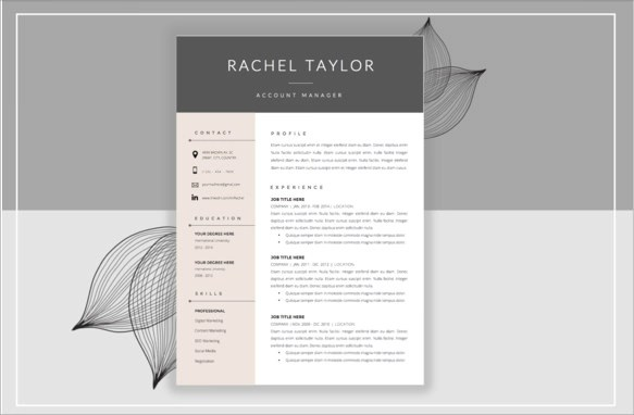 14+ Resume Cover Pages Sample Templates - cover page resume template