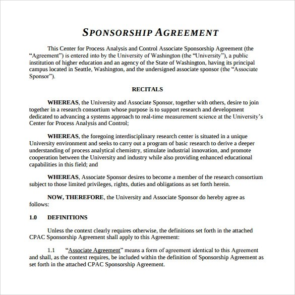 sponsorship agreement hitecauto - agreement