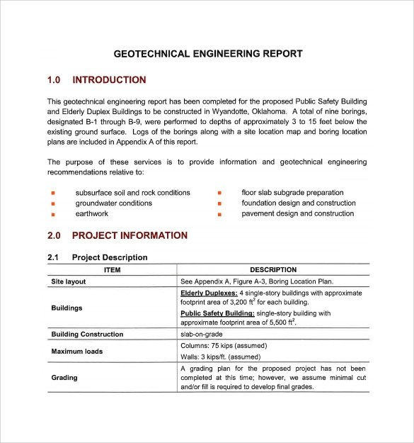 15+ Sample Engineering Reports Sample Templates - technical report sample