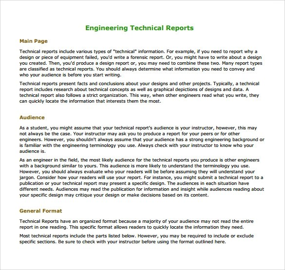 16+ Sample Engineering Reports \u2013 PDF, Word, Pages Sample Templates