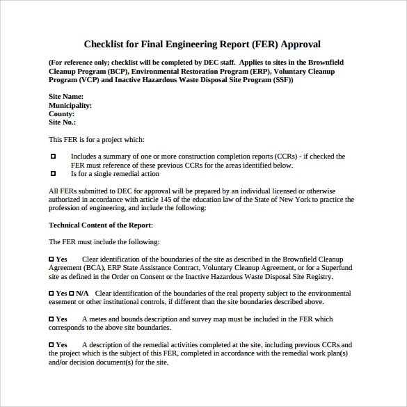 Sample Engineering Report - 14+ Documents in PDF - project completion report
