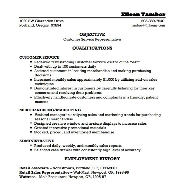 call center customer service representative resume 03052017