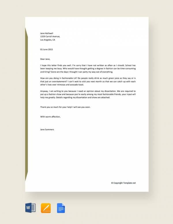 10+ Sample Informal Letters - DOC, PDF