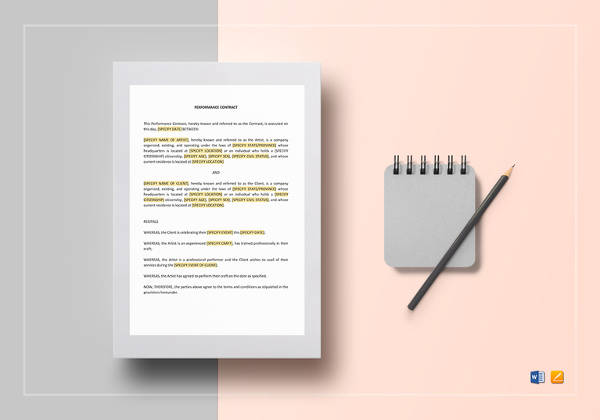 18 Band Contract Templates \u2013 Free Samples, Examples  Format