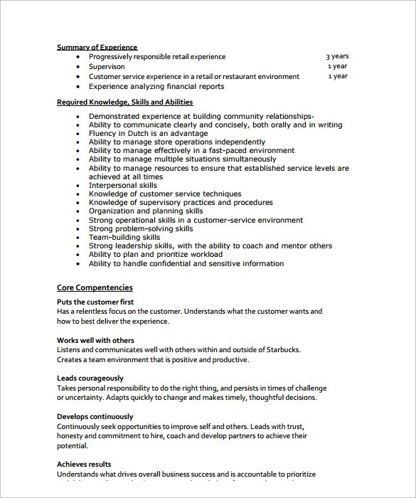 11+ Store Manager Resume Templates Sample Templates - sample manager resume