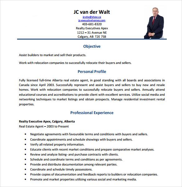 Fresh Real Estate Resume Resume Of Real Estate Agent Sample Resume