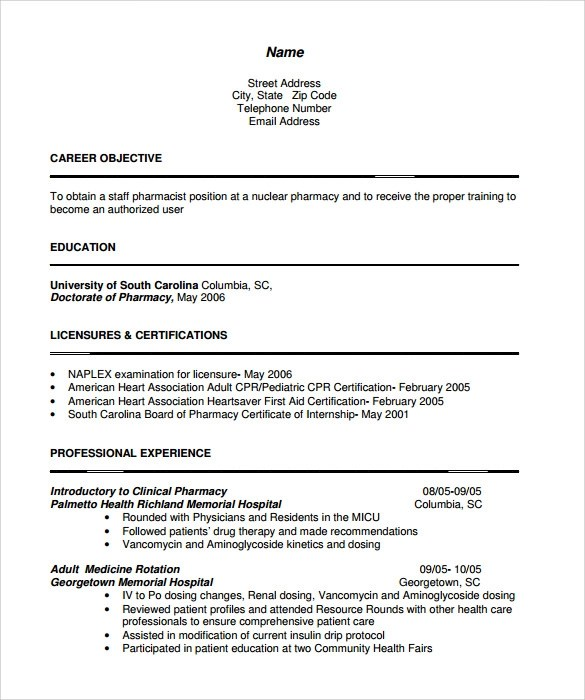 Pharmacist Resume Example. Choose. Sample Resume Pharmacist Animal