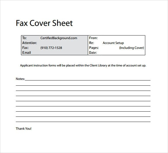 Sample Basic Fax Cover Sheet - 13+ Documents in Word, PDF - fax examples