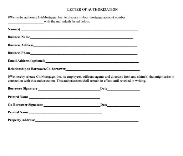 Letter of Authorization Form - 19+ Samples, Examples, Format