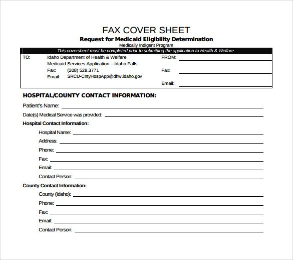 15+ Sample Medical Fax Cover Sheets Sample Templates - example fax cover sheet