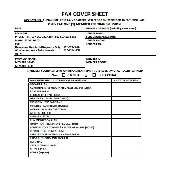 15+ Sample Medical Fax Cover Sheets Sample Templates - Fax Cover Sheet For Word