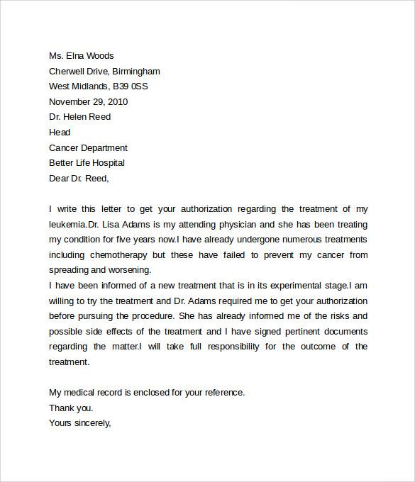 medical consent letter