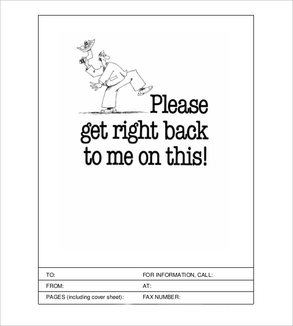 6+ Sample Funny Fax Cover Sheets Sample Templates