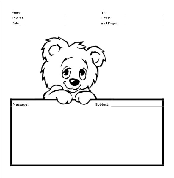 Sample Cute Fax Cover Sheet - 7 + Documents In PDF, Word - sample cute fax cover sheet