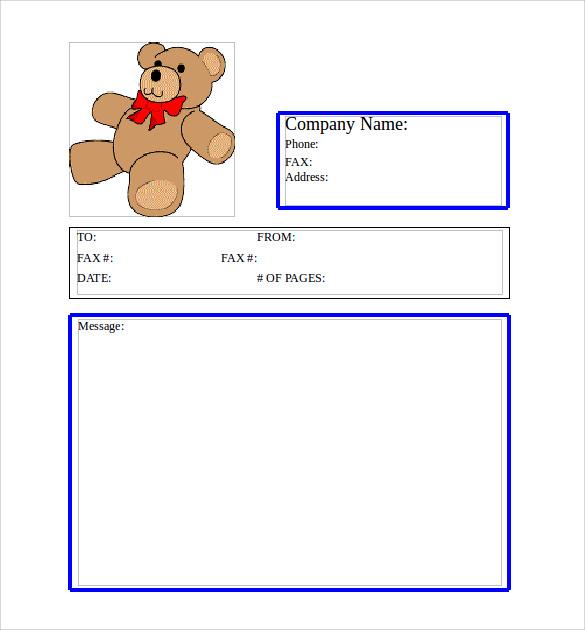 Sample Cute Fax Cover Sheet fax cover sheet pdf google docs best of