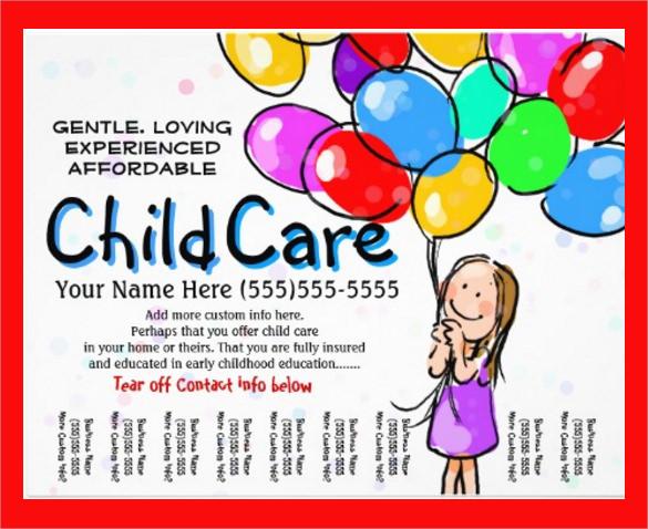 child care flyer free template - Carnavaljmsmusic