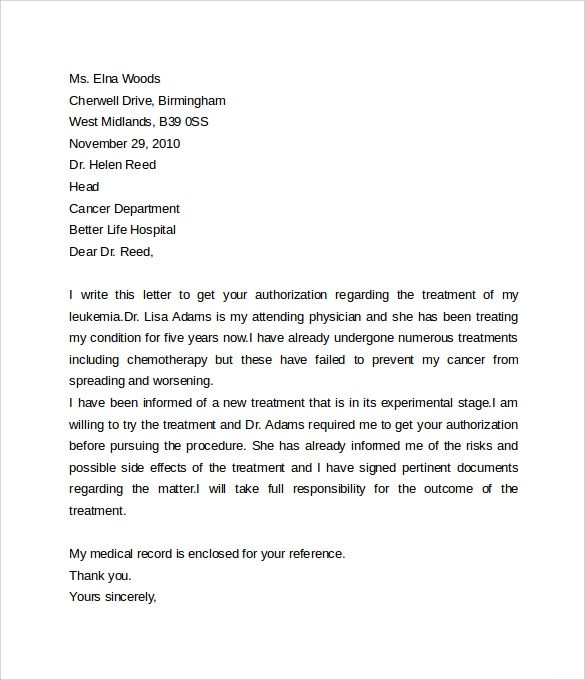 medical authorization letters - Romeolandinez